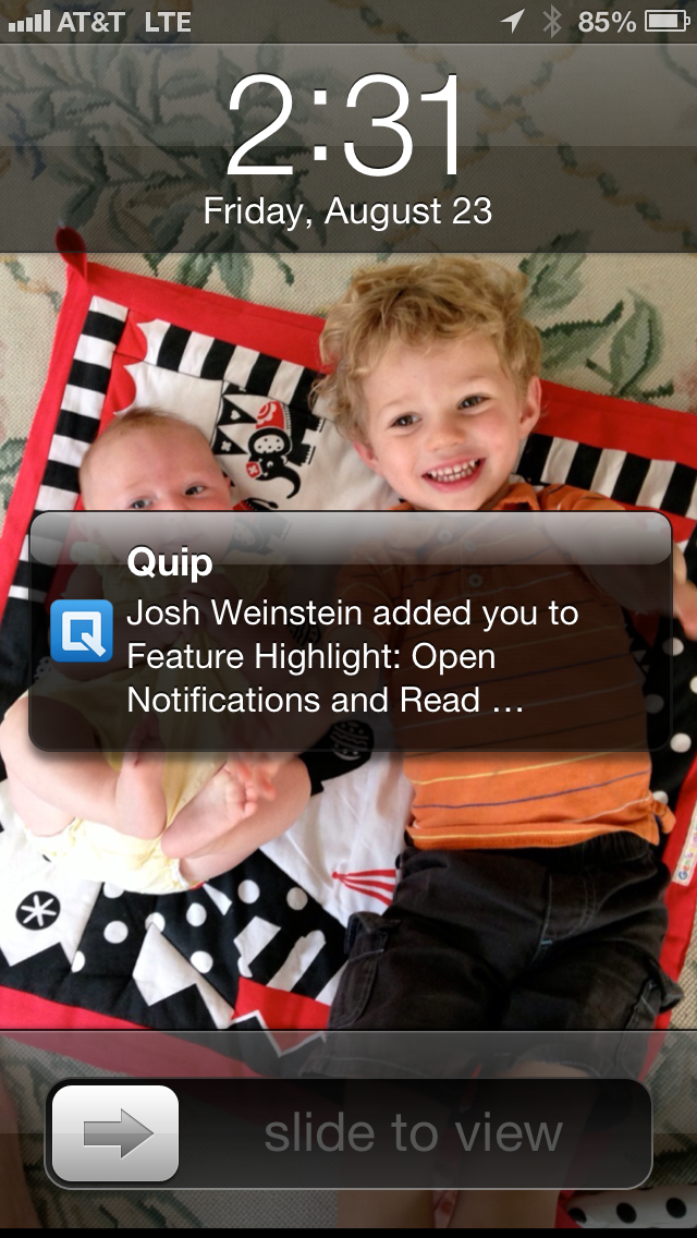 Quip - Feature Highlight: Open Notifications and Receipts